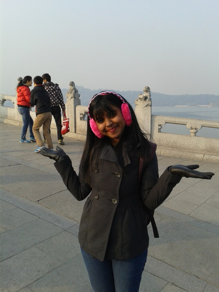 pretty girl at the summer palace