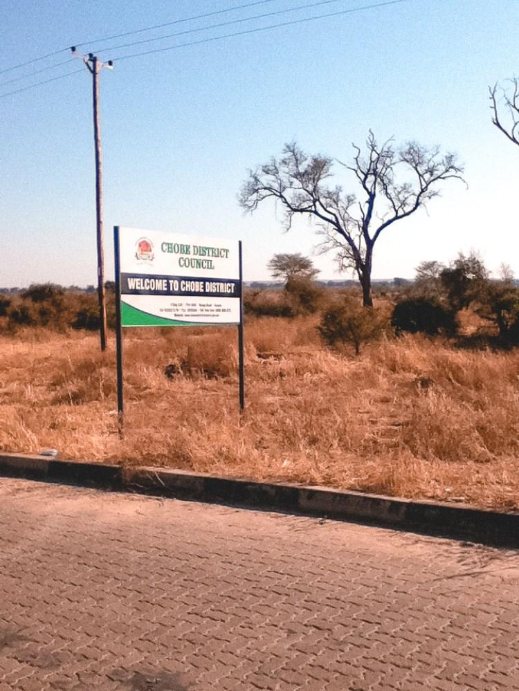 Chobe District Sign