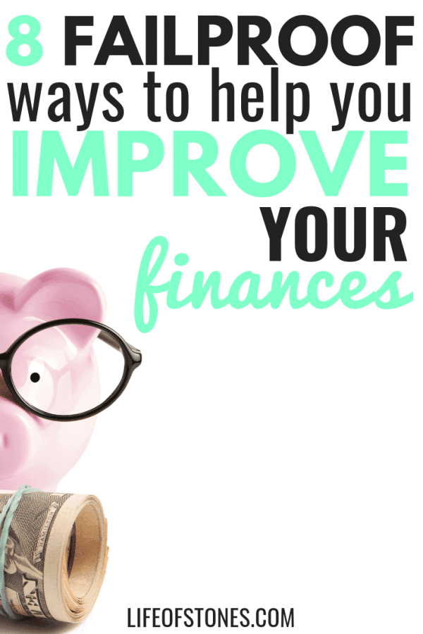 My finances were such a mess and these tips really helped me improve my finances! This articles gave me actionable steps that I could follow to take back control of my finances! I feel like I had a financial makeover! #lifeofstones #improveyourfinances #personalfinance #financetips