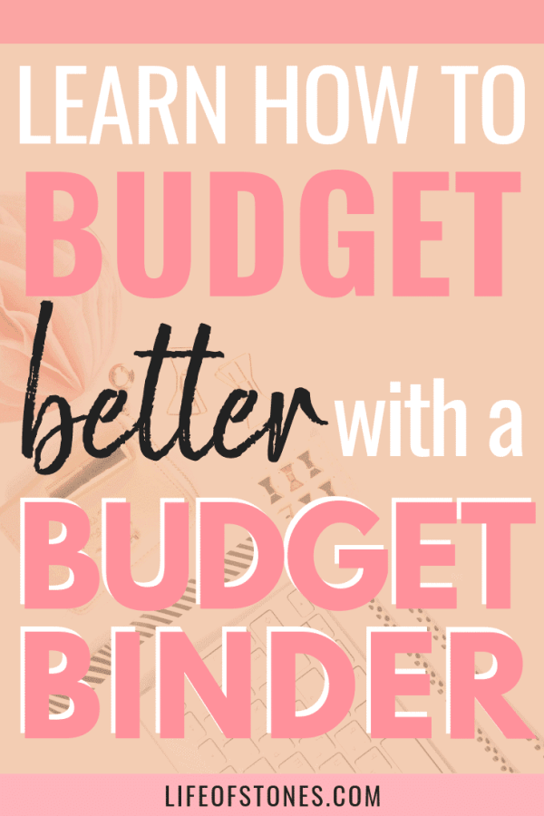 Learn how to budget better with a budget binder! These awesome budget binder printables helped us get out of debt and save money. We were able to finally live on a monthly budget and organize our finances the right way! I tried using a budget planner before but I found this much easier and I could set it up the way it worked best for me! This was so worth the money!! #budgetbinder #budget #budgetprintables #lifeofstones