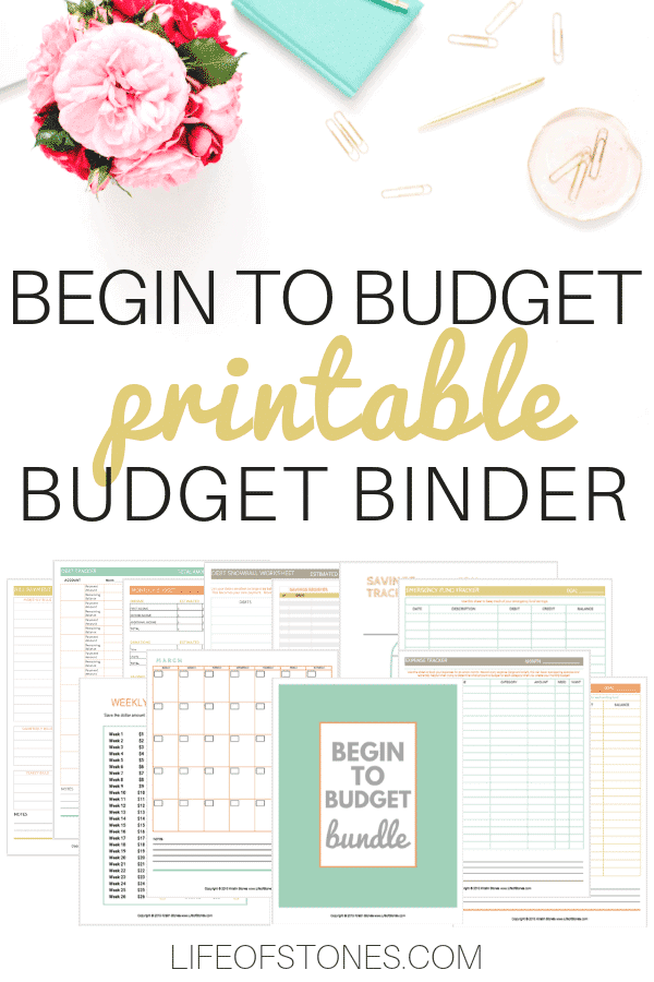You need a budget! Using this amazing budget bundle printable budget binder helped us manage our money so much better! For the first time we were finally able to take back control of our finances! We paid off debt, saved an emergency fund and are able to use all these budgeting printables every month to keep our finances on track! Highly recommend this, it's bascially like making your own budget planner in a binder! #budgetbinder #budgetplanner #budgetprintable #lifeofstones