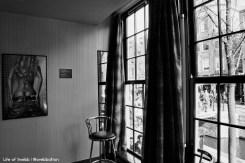 Inside a Red Light Window (Museum)