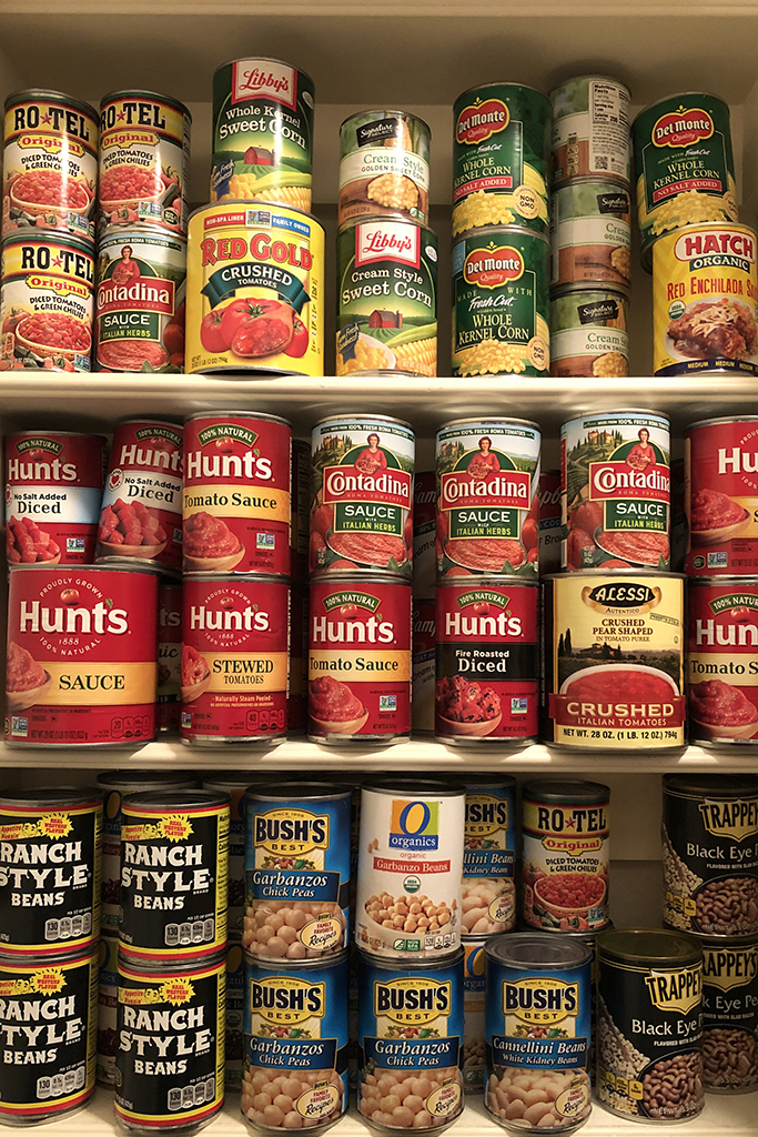 Pantry food is front and center during Corona/ Covid 19 cooking age