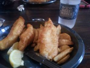 Fish and Chips and some Gilly Water