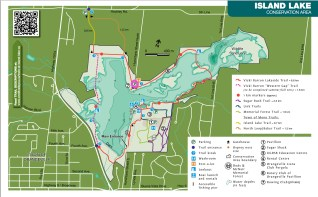Hiking Trails in Ontario, Hiking Trails in Orangeville, Things to see in Ontario, Island Lake Conservation Area Trail Map,