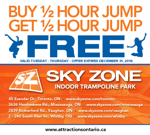 image regarding Sky Zone Printable Coupons called Skyzone E-Coupon June 16 2016 Lifeology 101