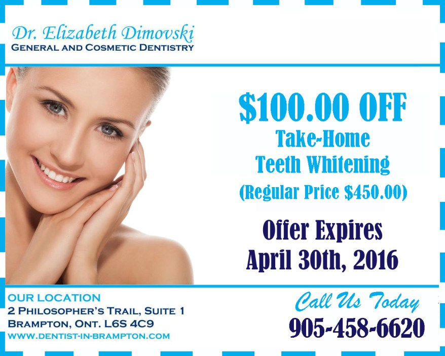 Teeth Whitening Coupon, Dentistry Coupons, Brampton Dentists, Top Dentist in Brampton,