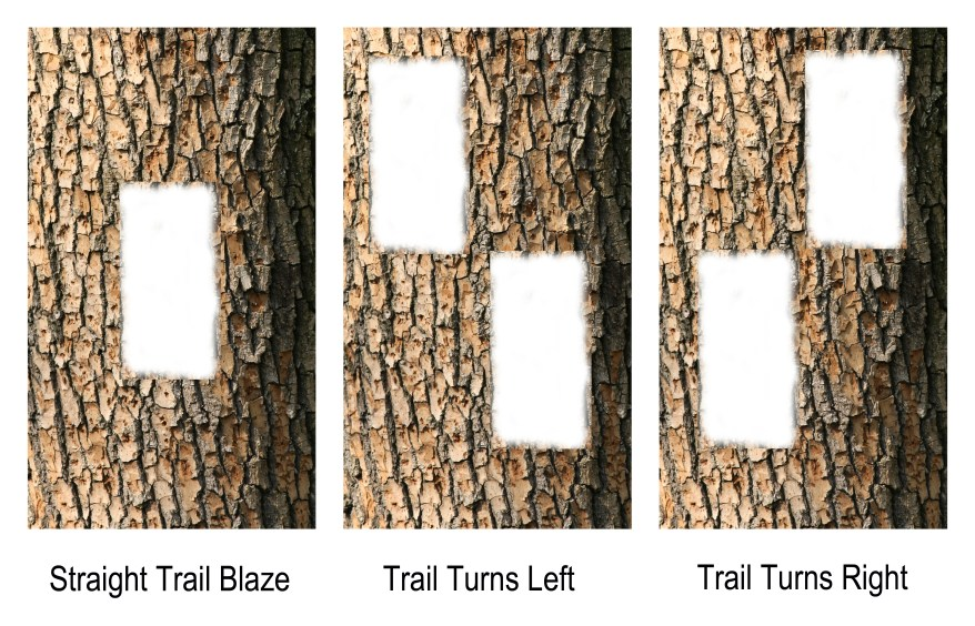 Trail Blazes, Trail Markings, Hiking Trail Blazes, Ontario Hiking Trails, Hiking Trail Markers, Bruce Trail, Hiking Ontario,