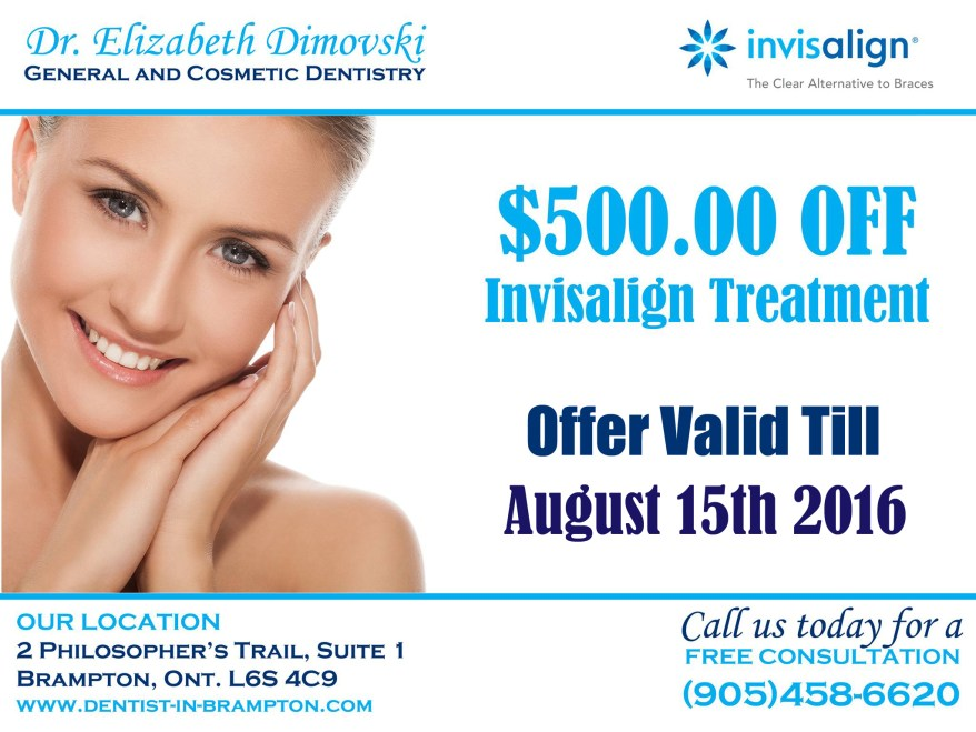 Invisalign Coupon, Invisalign Braces Special, Top Dentists in Brampton, Dentists in Brampton,