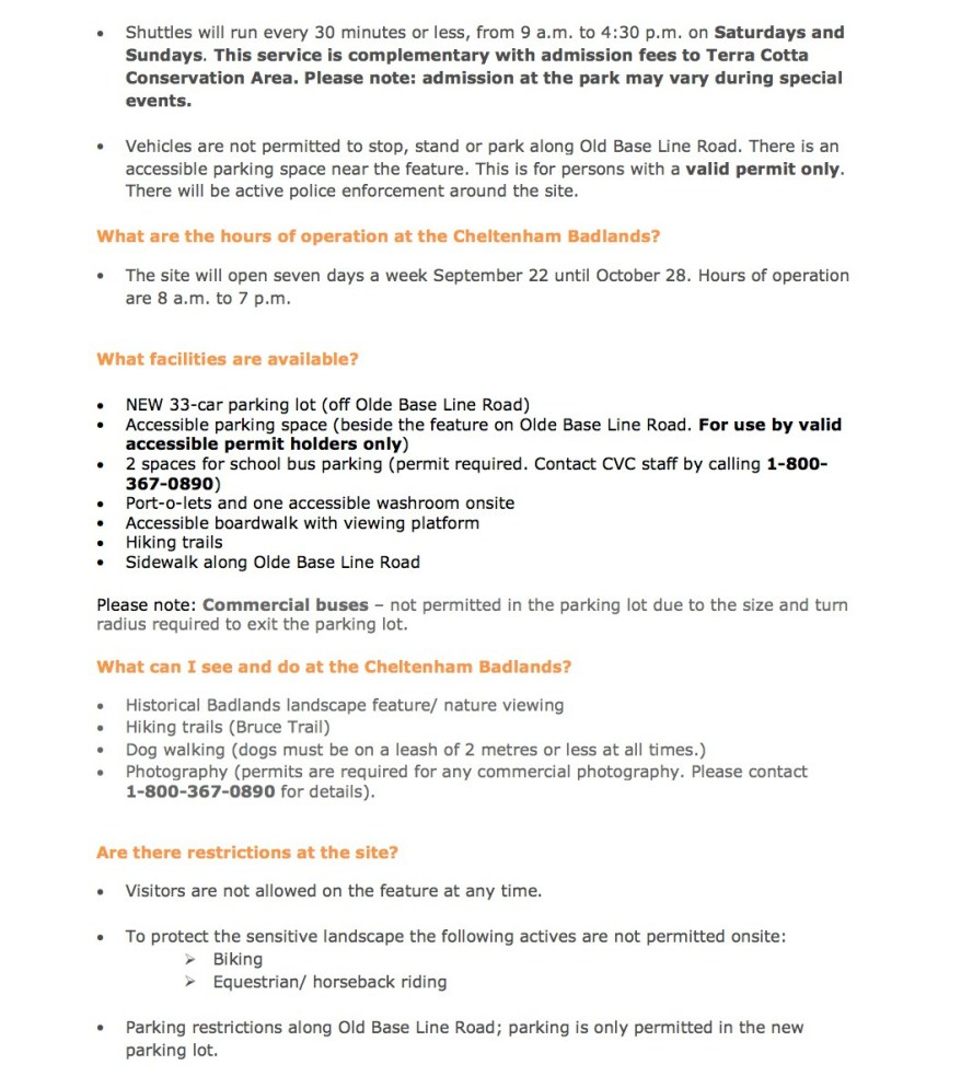 Cheltenham-Badlands-Plan-Your-Visit Page 2