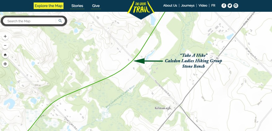 The Great Trail Map, Ontario Hiking trails, Hiking Trails Canada Map,
