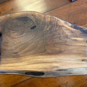 Walnut Charcuterie/Serving Board with handles and personalized engraving 16 by 10-11inches $110