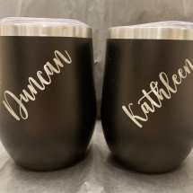 12 oz Personalized stainless steel wine/coffee/cocktail tumbler $35 each