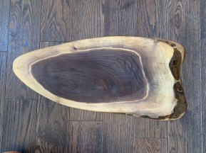 Live Edge Dark Walnut Charcuterie Board with personalized laser engraving 23 inches long $120