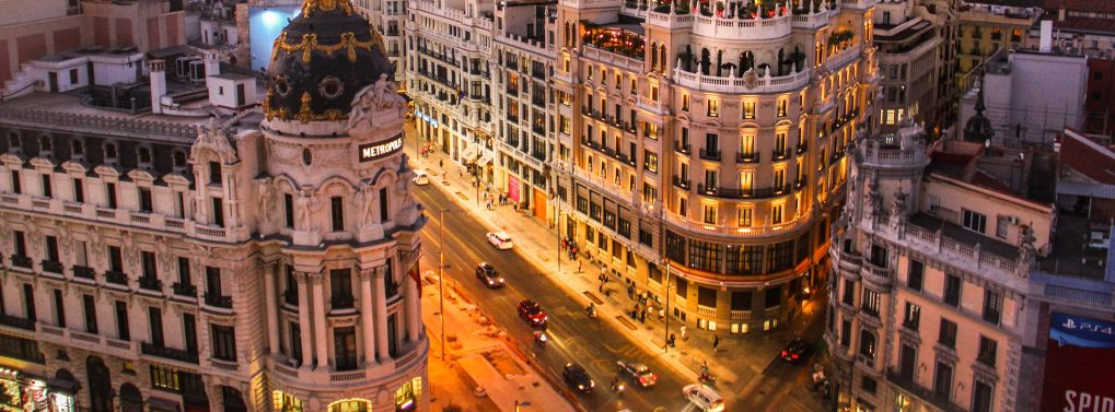 Building in Madrid, Spain