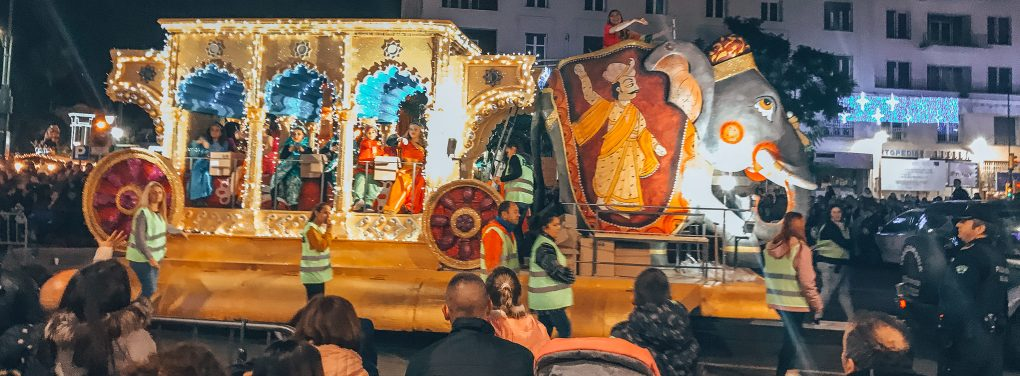 Three kings float in Spain
