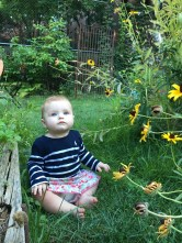 Elle at 5..6 months, enjoying the extra evening light