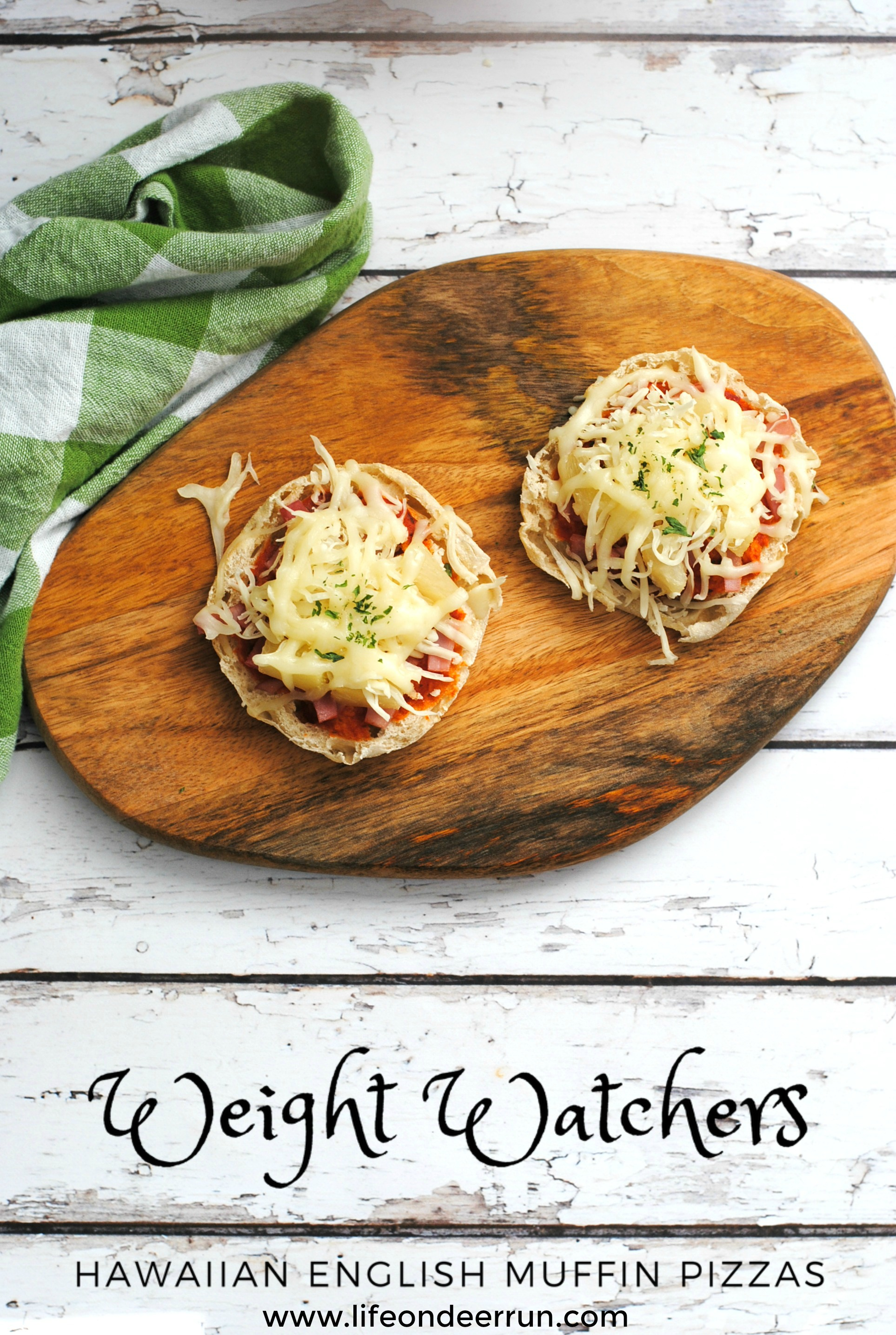 Weight Watchers Hawaiian English Muffin Pizza