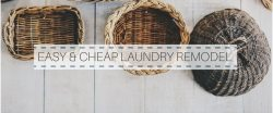 EASY AND CHEAP LAUNDRY ROOM REMODEL