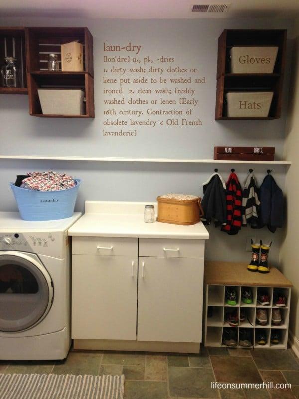 Laundry Room Remodel - www.lifeonsummerhill.com