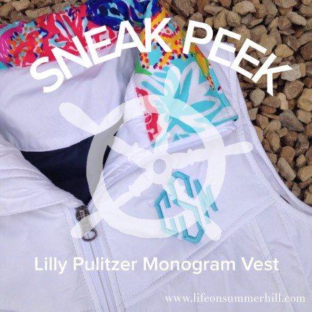 Lilly Pulitzer Monogram Vest www.lifeonsummerhill.com
