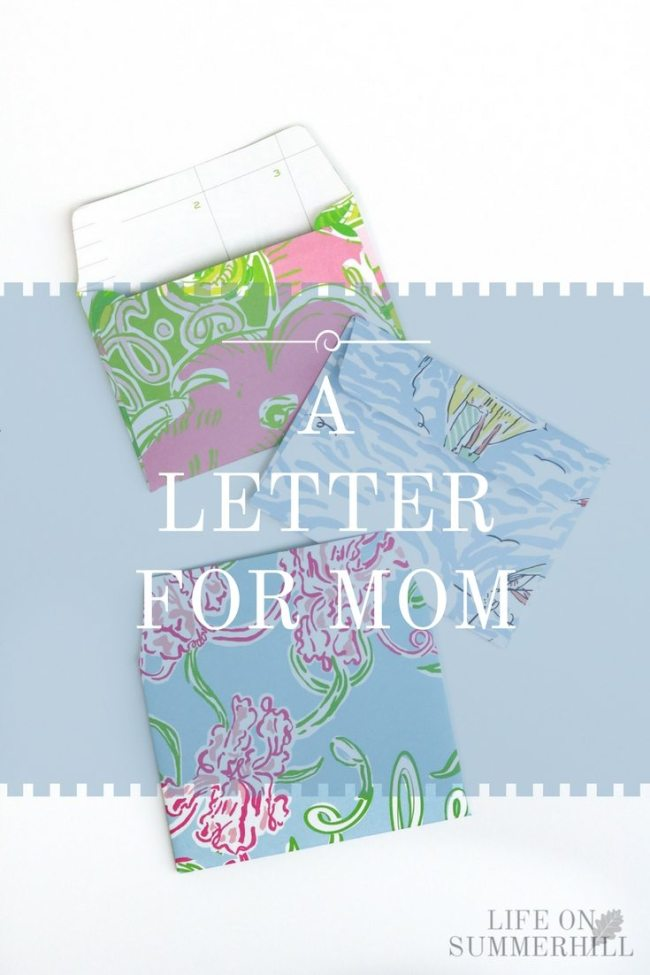 a letter for mom