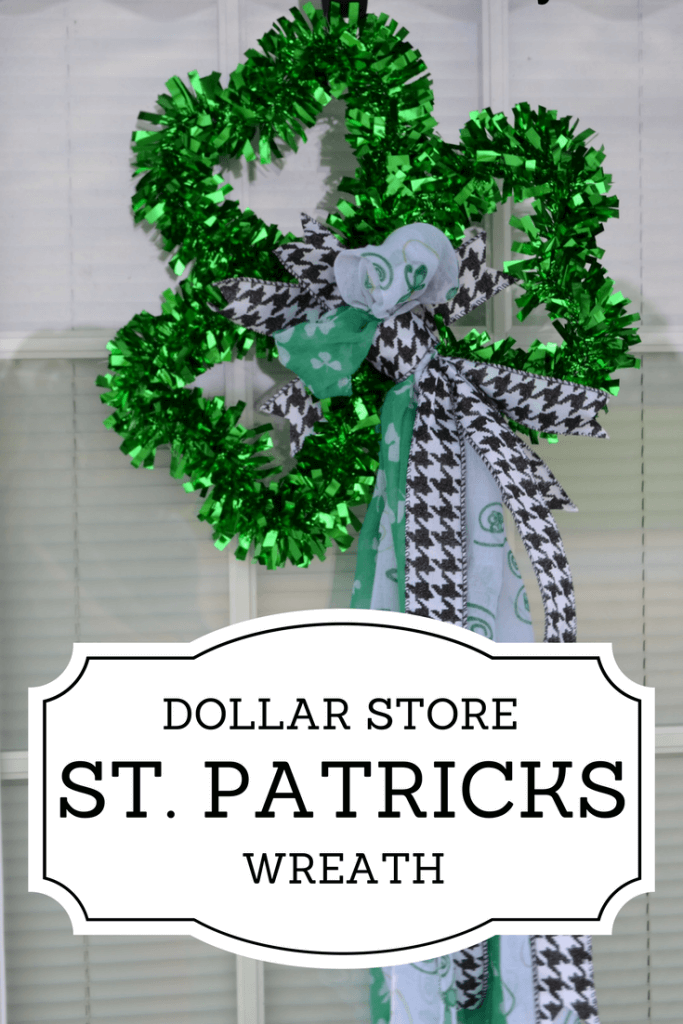 St Patricks Day Wreath Dollar Store Craft Life On The