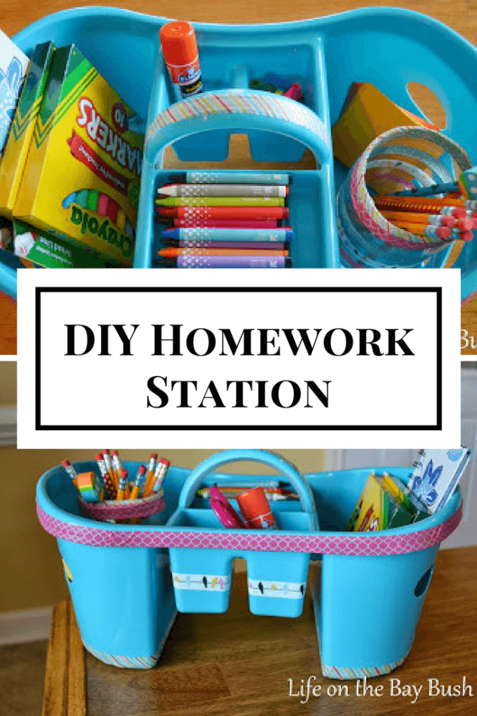 I'm going to be organized this year! Having the homework supplies in one spot will make things so much easier! I can never find a pencil when they need one.