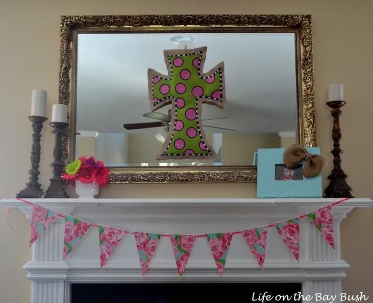 Pink Spring Mantel