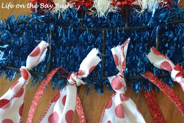 Dollar Store July 4th wreath