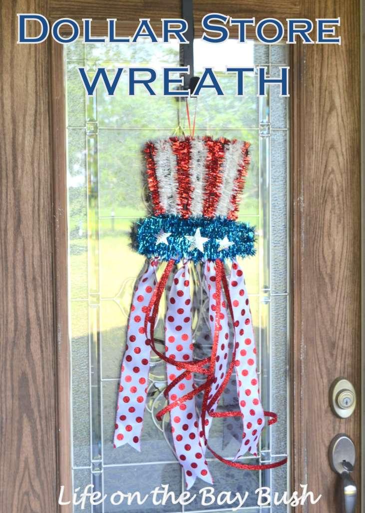 July 4th Wreath {Dollar Store Wreath}