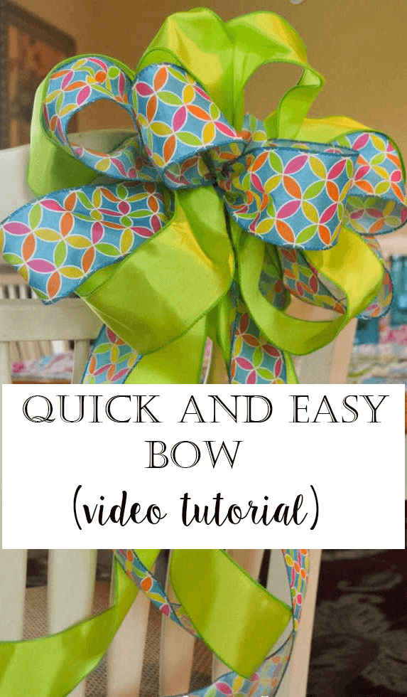 Quick and Easy way to tie a bow using two different kinds of ribbon.  Video tutorial!  So easy!