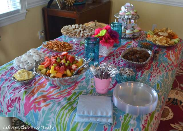 lilly-pulitzer-shower-decorations-food
