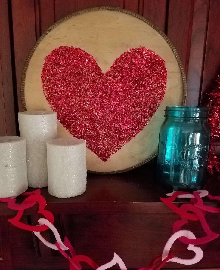 Rustic Glam Valentine's Heart Craft