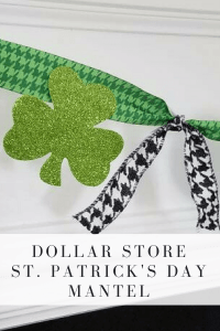 This bunting takes less than 10 minutes to make and is so cute for St. Patrick's Day! Most of the materials came from the Dollar Store! I love Dollar Store Crafts!