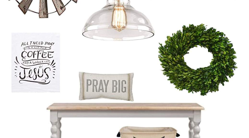 Favorite Farmhouse Finds Under $50 and all on Amazon! Adding a couple of these can give your home a Farmhouse feel without breaking the bank.