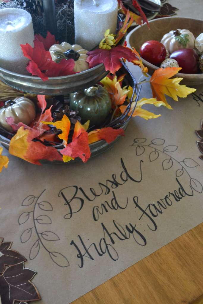 Love this beautiful fall tablescape! | Life on the Bay Bush
