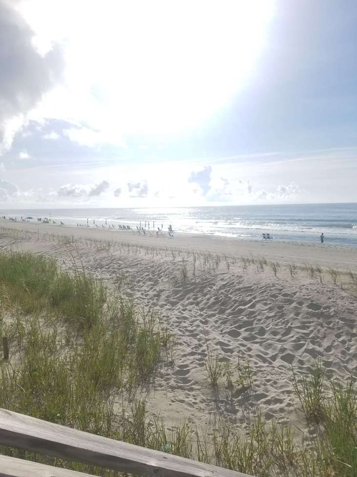 The beautiful beach at Lakewood Campground in Myrtle Beach, SC