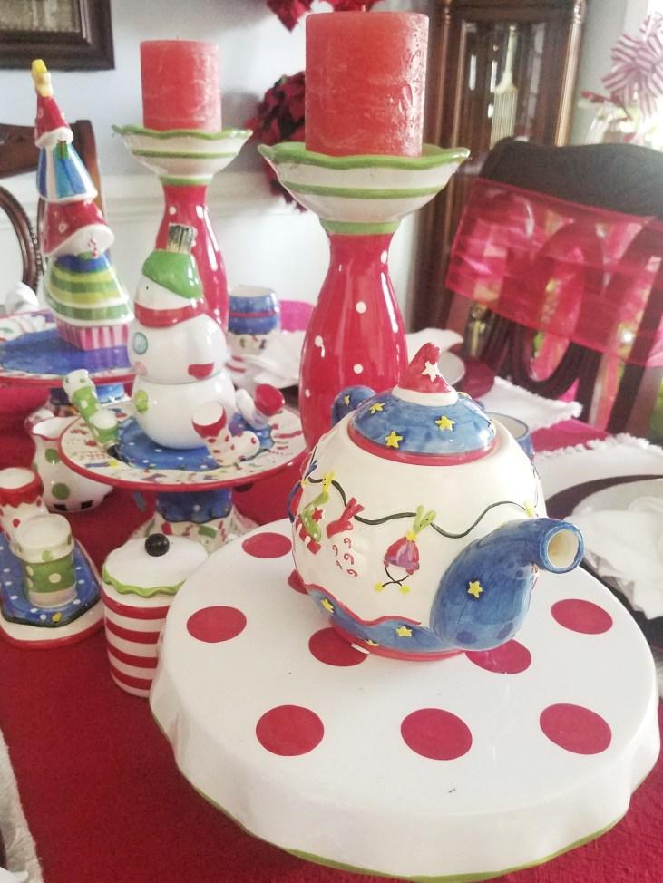 Love this adorable whimsical Christmas Table