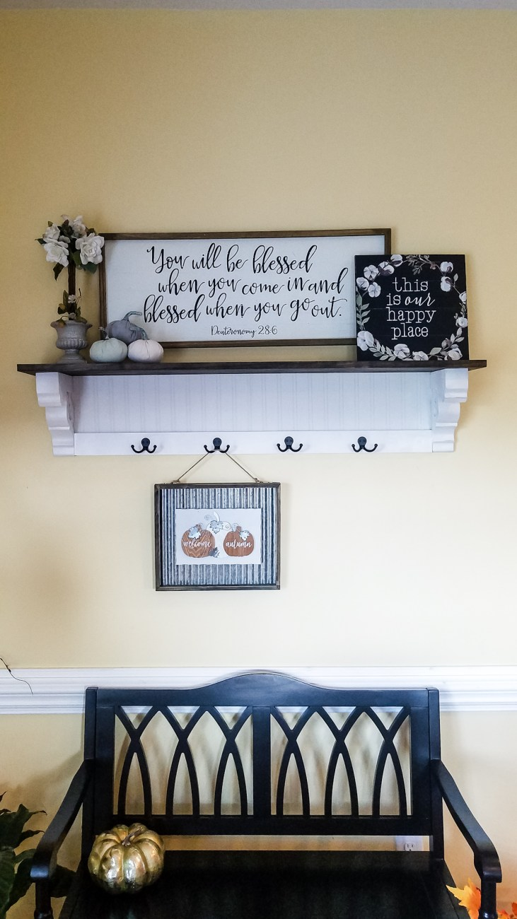 DIY Shelf Tutorial - Step by step instructions for building this beautiful farmhouse shelf!