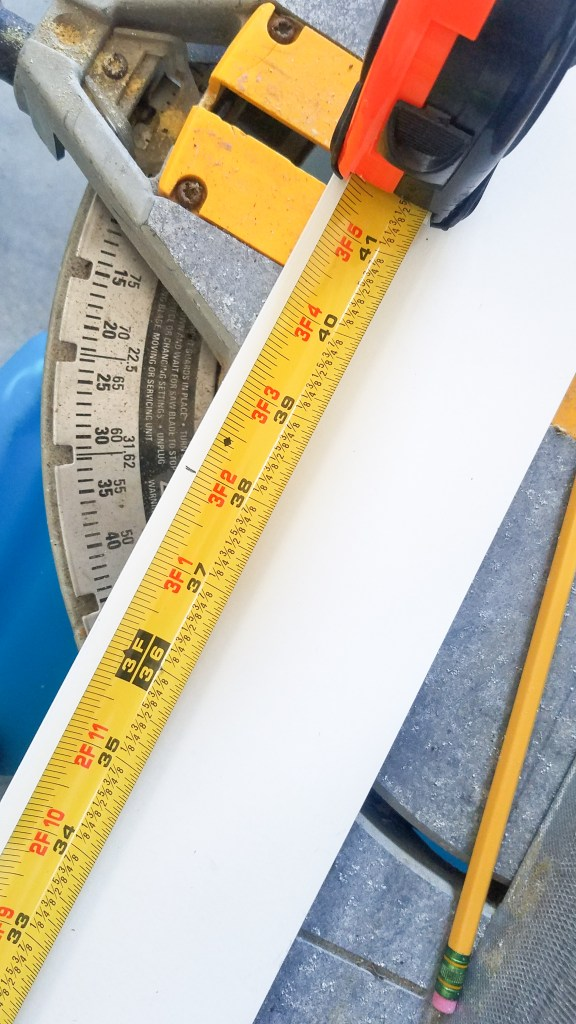 Board and Batten Tutorial - measuring and cutting