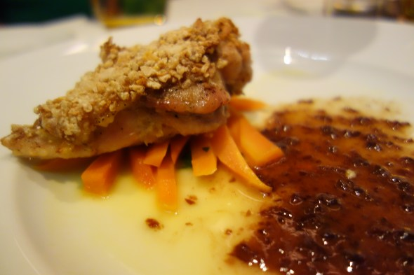 Cornflake crusted chicken...at W Doha. Amazing