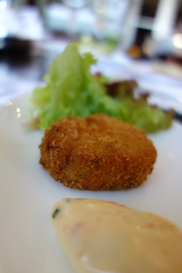 US style crab cake at Opal, St Regis Doha