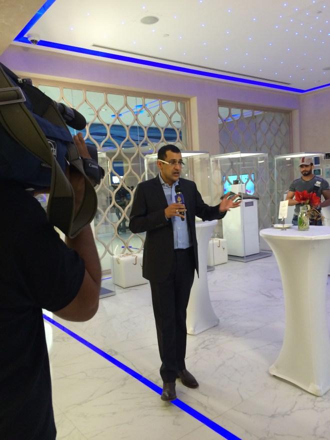 Al Jazeera presenter and fellow Twitterati Kamahl Santamaria giving us a tour