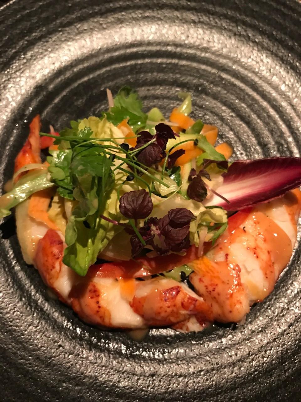 Lobster salad at Nobu Doha