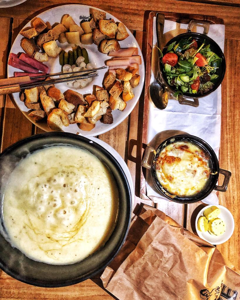 Fondue at Belgian Cafe Doha