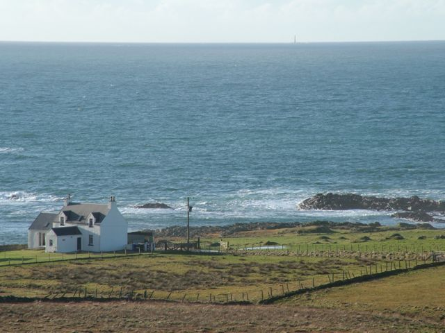 Looking down on Rock Villa. Can you spy Skerryvore Lighthouse?