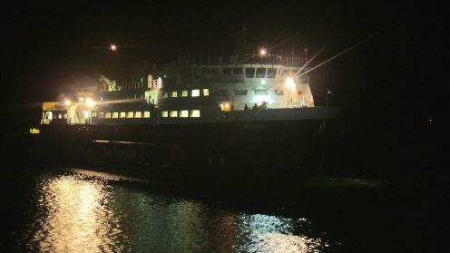 MV Clansman approaching
