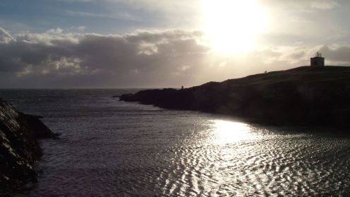 Lighthouse view - a wintry sun