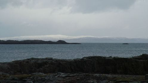 Snow to lower levels on Mull